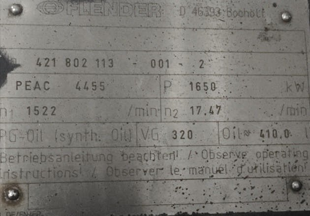 Getriebe – PEAC 4455 ( NTK 1500)